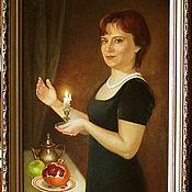 Картины и панно ручной работы. Ярмарка Мастеров - ручная работа Портрет со свечой. Handmade.