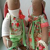Куклы и игрушки ручной работы. Ярмарка Мастеров - ручная работа Пара зайцев в стиле тильда игрушки интерьерные. Handmade.