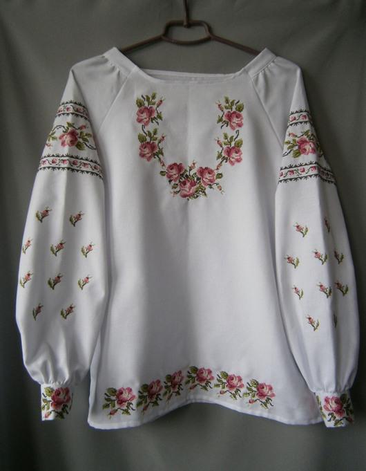 Блузки ручной работы. Ярмарка Мастеров - ручная работа. Купить Блуза-вышиванка из домотканого полотна Райский сад 2. Handmade.