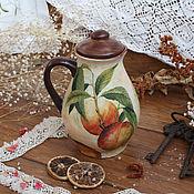 """Посуда ручной работы. Ярмарка Мастеров - ручная работа Кувшин для напитков """"Персиково-сливовый вкус"""". Handmade."""