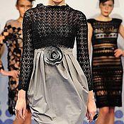 Одежда ручной работы. Ярмарка Мастеров - ручная работа Платье дизайнерское с корсетным лифом и чашечками. Handmade.