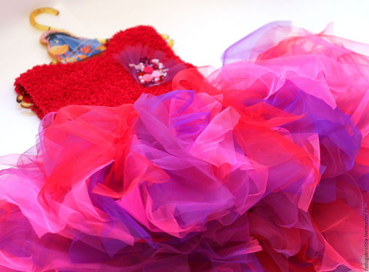 """Одежда для девочек, ручной работы. Ярмарка Мастеров - ручная работа. Купить Жилет для девочки """"Зефирная фуксия"""". Handmade. Фуксия"""