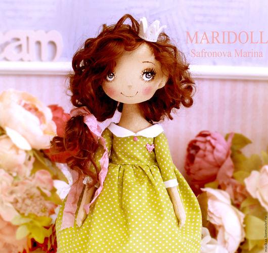 Коллекционные куклы ручной работы. Ярмарка Мастеров - ручная работа. Купить Принцесса Miа. Handmade. Подарок девушке, кукла текстильная