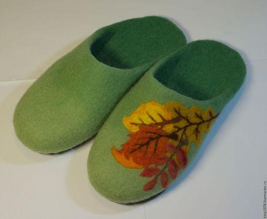 """Обувь ручной работы. Ярмарка Мастеров - ручная работа. Купить Тапочки валяные """"Листопад"""". Handmade. Шерсть 100%, обувь на заказ"""
