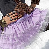 Одежда ручной работы. Ярмарка Мастеров - ручная работа Юбка с оборками СИРЕНЬ. Handmade.
