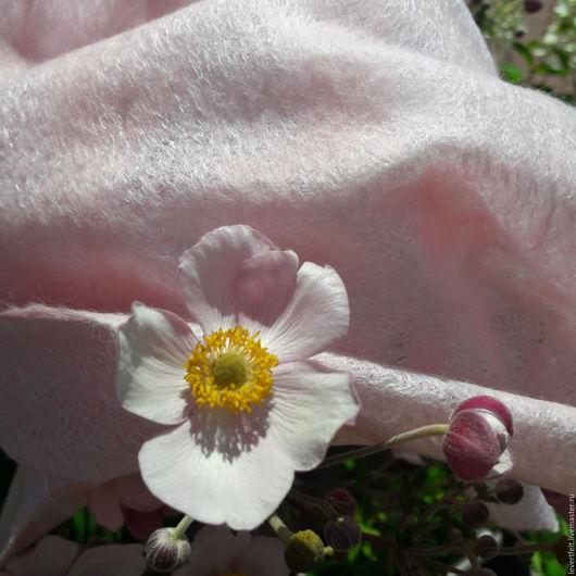 Шали, палантины ручной работы. Ярмарка Мастеров - ручная работа. Купить Шаль валяная ручной работы Розовые мечты. Handmade.