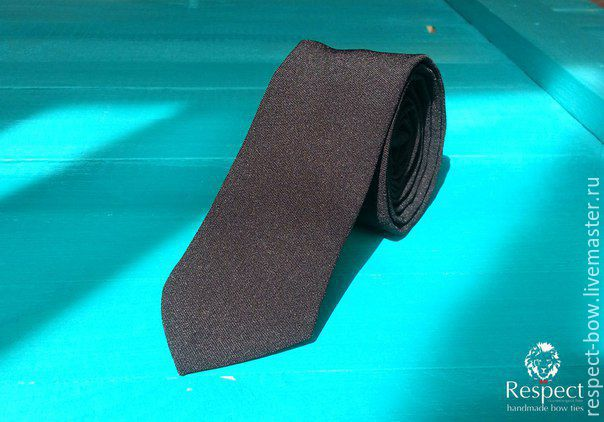 The black solid classic tie groom wedding, Ties, Moscow,  Фото №1