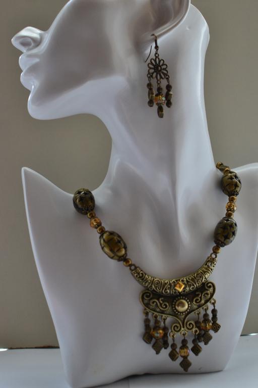 колье и серьги `Злато скифов`, комплект украшений