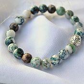 Bead bracelet handmade. Livemaster - original item Bracelet made of moss agate and tortoiseshell