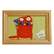 Картины и панно ручной работы. Ярмарка Мастеров - ручная работа Котик. Мя.... Handmade.