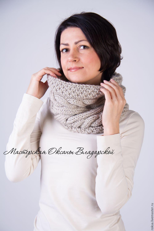 вязаный снуд шарф хомут труба купить в интернет магазине на