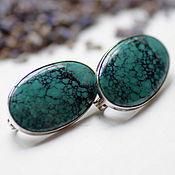Украшения handmade. Livemaster - original item Earrings with turquoise vein