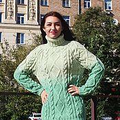"""Одежда ручной работы. Ярмарка Мастеров - ручная работа свитер """"Добрый""""с градиентом. Handmade."""