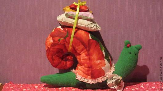 """Куклы Тильды ручной работы. Ярмарка Мастеров - ручная работа. Купить Тильда улитка """"Розочка"""". Handmade. Зеленый, кружево"""