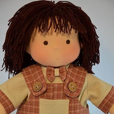 Куклы и игрушки ручной работы. Ярмарка Мастеров - ручная работа Илюша- куколка по вальдорфским мотивам, 42 см. Handmade.