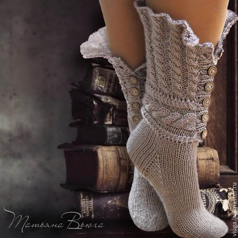 Вязанные носки фото