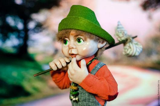 Коллекционные куклы ручной работы. Ярмарка Мастеров - ручная работа. Купить Гном-бродяга Стиви. Handmade. Комбинированный, шерсть