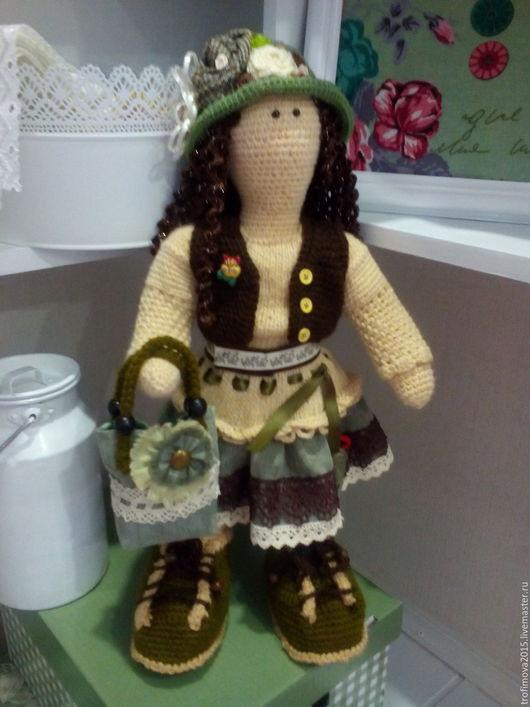 Человечки ручной работы. Ярмарка Мастеров - ручная работа. Купить Интерьерная вязаная кукла Майя. Handmade. Интерьерная кукла, хлопок