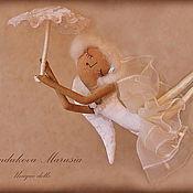 """Куклы и игрушки ручной работы. Ярмарка Мастеров - ручная работа """"Ангел спустившийся с небес"""" - авторская кофейная куколка. Handmade."""