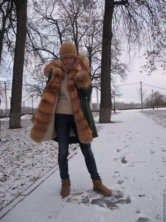 Верхняя одежда ручной работы. Ярмарка Мастеров - ручная работа. Купить Куртка-парка с лисой огневкой. Handmade.