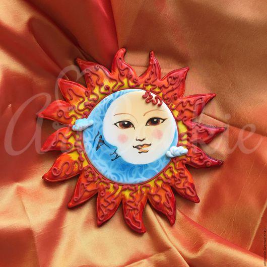 Кулинарные сувениры ручной работы. Ярмарка Мастеров - ручная работа. Купить Солнце и Луна. Handmade. Оранжевый, желтый, луна