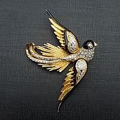 Винтаж handmade. Livemaster - original item Vogue Bijoux vintage brooch.Italy. Handmade.