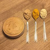 Косметика ручной работы. Ярмарка Мастеров - ручная работа Желтая глина, Апельсиновая цедра, Куркума. Маска для сухой кожи лица.. Handmade.