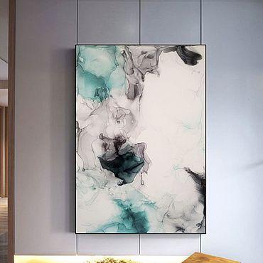 Картины и панно ручной работы. Ярмарка Мастеров - ручная работа Воздушная абстракция. Handmade.