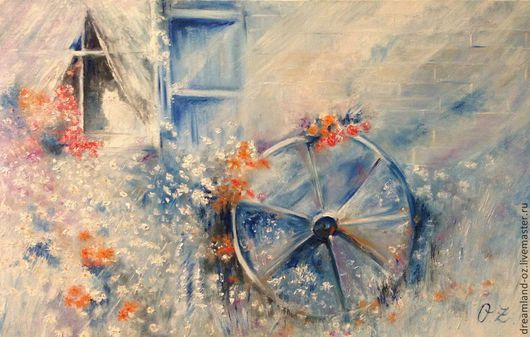 """Картины цветов ручной работы. Ярмарка Мастеров - ручная работа. Купить Картина маслом """" Лето - это маленькая жизнь"""". Handmade."""