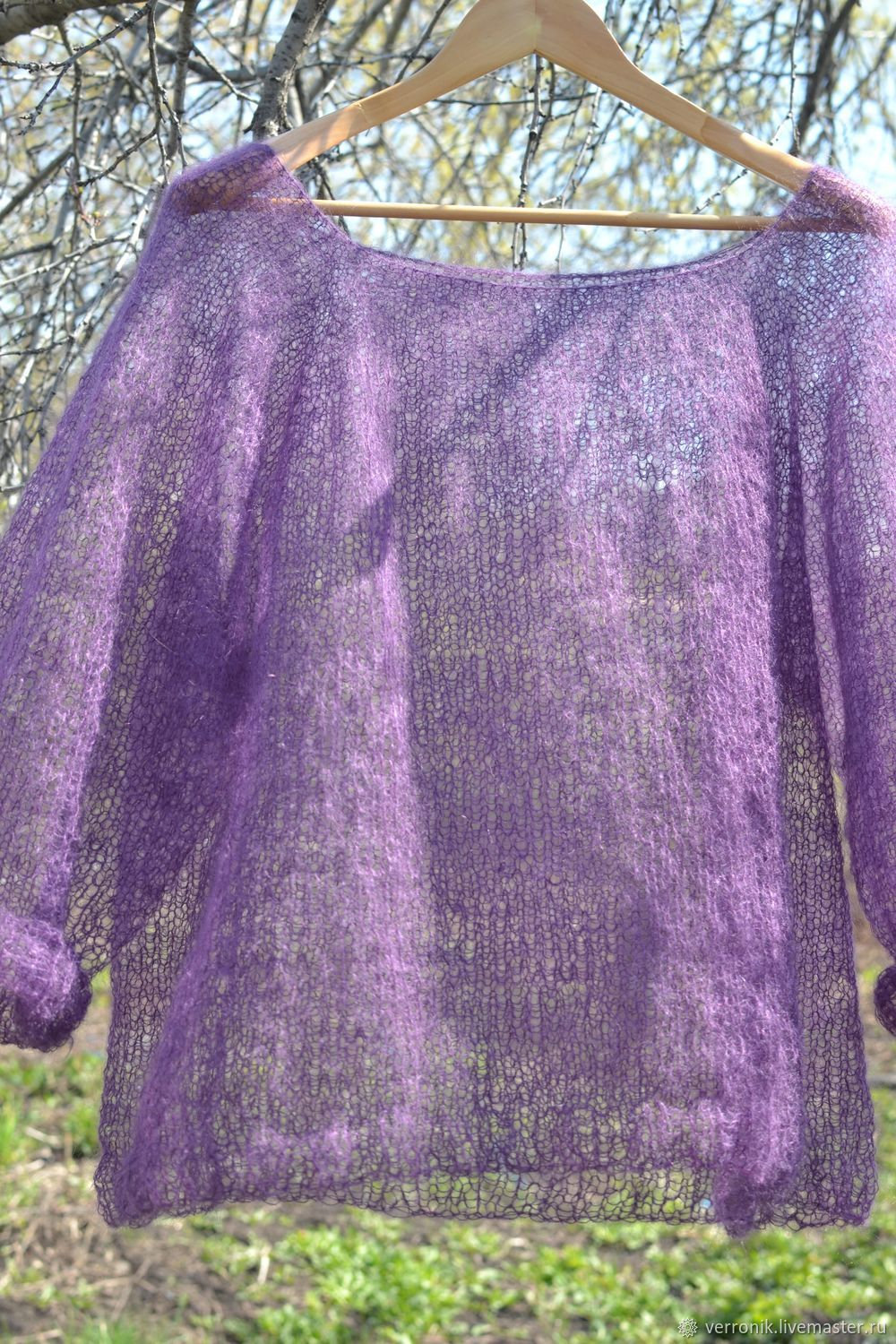 Pullover knitted 'Lilac cloud'. Pullover mohair, Pullover Sweaters, Samara,  Фото №1