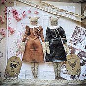 Куклы и игрушки ручной работы. Ярмарка Мастеров - ручная работа Кошечки гимназистки. Handmade.