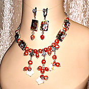 Украшения handmade. Livemaster - original item Set Lilies of pearl and mother of pearl. Handmade.