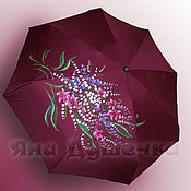 Аксессуары handmade. Livemaster - original item Umbrella parasol hand painted a bouquet of flowers. Handmade.