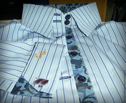 Блузки ручной работы. Ярмарка Мастеров - ручная работа. Купить Рубашка офисная. Handmade. Голубой, рубашка, рубашка деловая