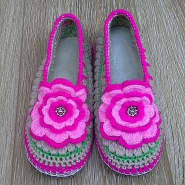 Обувь ручной работы. Ярмарка Мастеров - ручная работа Домашние тапочки Нежность. Handmade.