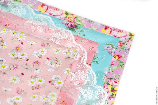 """Шитье ручной работы. Ярмарка Мастеров - ручная работа. Купить Ткань хлопок """"Цветы"""".   №7.. Handmade. Розовый, прованс, ткань"""