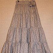 Одежда ручной работы. Ярмарка Мастеров - ручная работа Длинная летняя юбка.Морские волны.. Handmade.