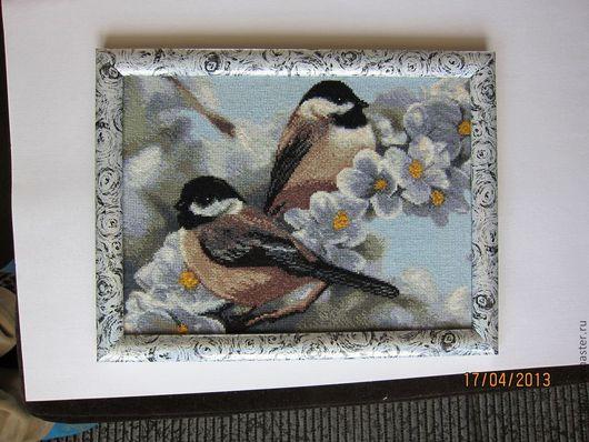 Животные ручной работы. Ярмарка Мастеров - ручная работа. Купить вышитая картина Весна пришла. Handmade. Весеннее настроение