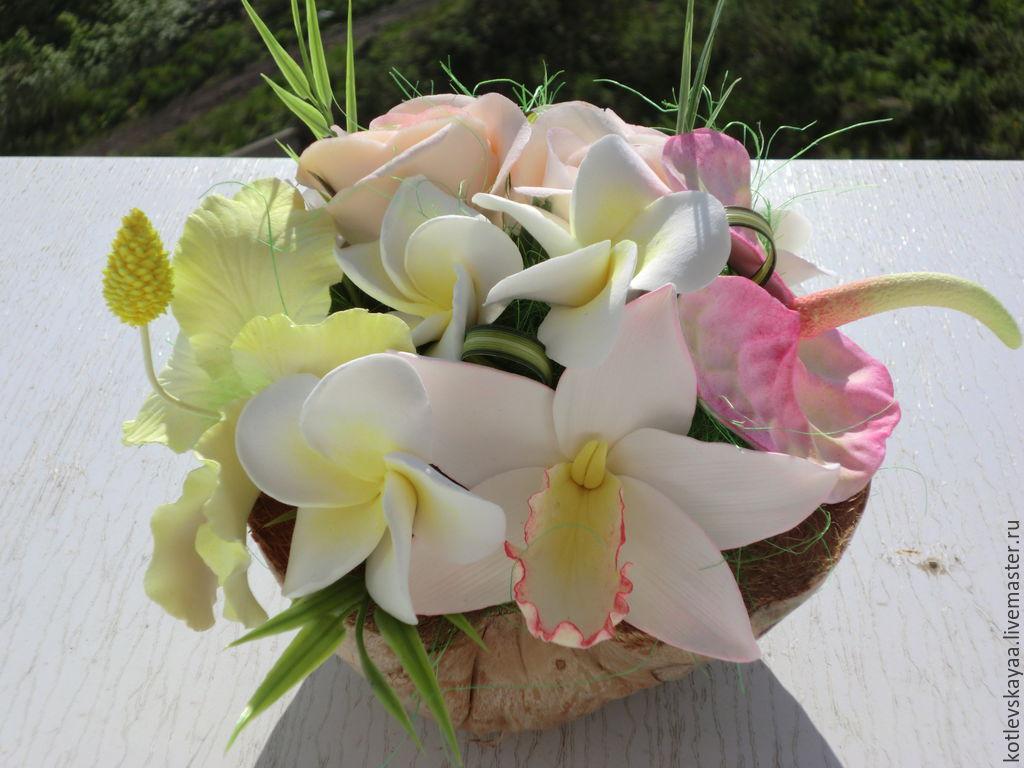 Доставка цветов в кокосе оригинальный подарок на юбилей совместной жизни
