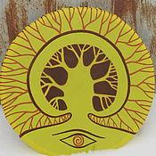 Музыкальные инструменты handmade. Livemaster - original item Eye of the tree. Tambourine Vedic.. Handmade.