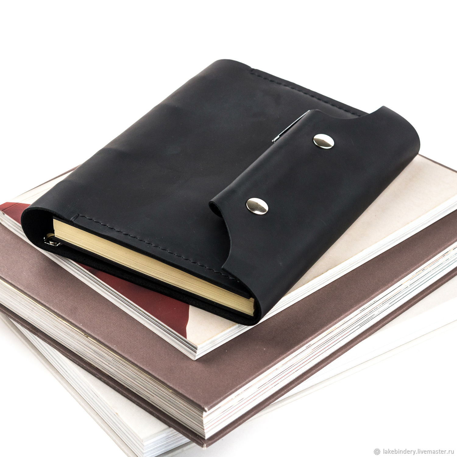 Diary made of genuine leather on rings with magnetic buttons, Diaries, Moscow,  Фото №1