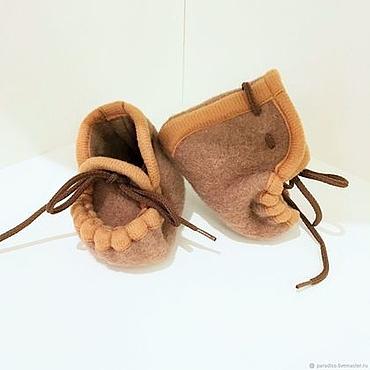 Footwear handmade. Livemaster - original item MY LITTLE GINGER baby woolen shoes from 0 months. Handmade.