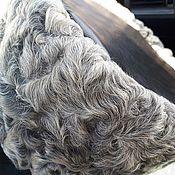 Аксессуары handmade. Livemaster - original item Kubanka Karakul natural grey with black leather upper.. Handmade.