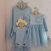 Одежда handmade. Livemaster - original item Evening dresses familily in the same style for Mom and daughter/baby. Handmade.