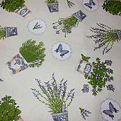 Для дома и интерьера ручной работы. Ярмарка Мастеров - ручная работа Скатерть с грязеотталкивающей пропиткой Лаванда. Handmade.