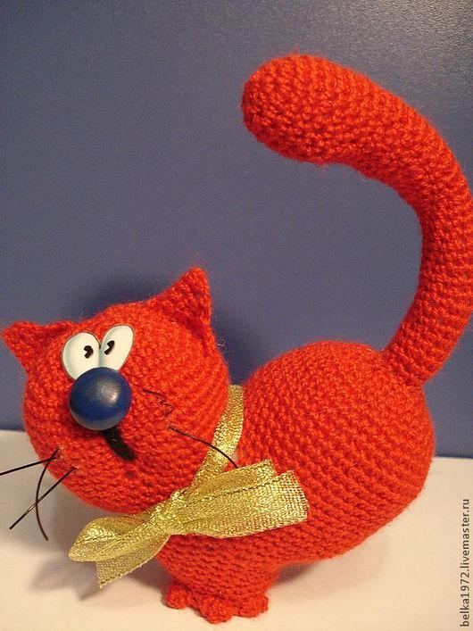 Игрушки животные, ручной работы. Ярмарка Мастеров - ручная работа. Купить Сердешный кот. Handmade. Ярко-красный, кот-сердце