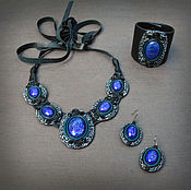 Украшения handmade. Livemaster - original item Jewelry set with lapis lazuli. Handmade.