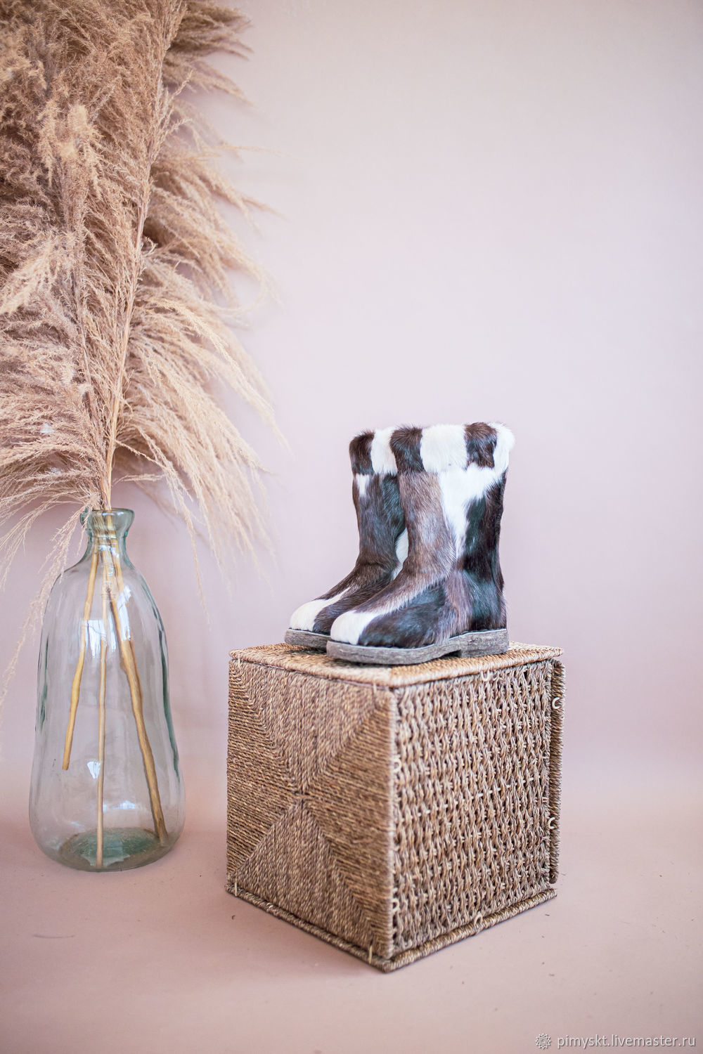 Baby felt boots made of natural reindeer skin, Fur boots, Syktyvkar,  Фото №1