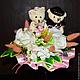 Свадебные цветы ручной работы. Ярмарка Мастеров - ручная работа. Купить Букет свадебный - дублер для невесты с мягкими игрушками. Handmade.