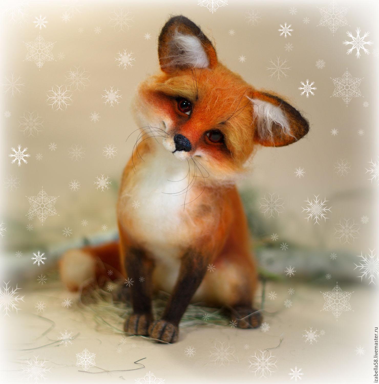 Открытка лисички
